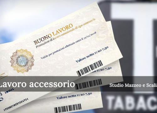 Prestazioni lavoro accessorio (voucher)