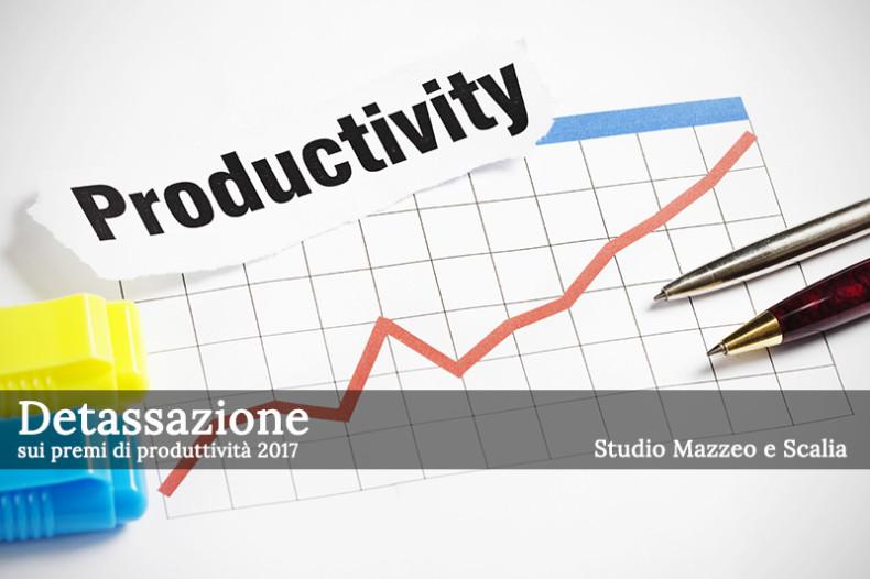 Detassazione premi di produttività 2017