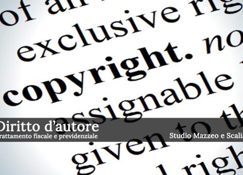 Trattamento fiscale e previdenziale dei diritti d'autore