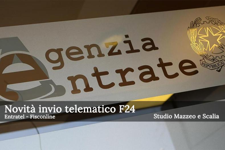 Nuovo obbligo di invio telematico modello F24 con Entratel e Fisconline