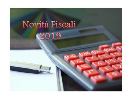 NOVITA' FISCALI 2019 (1° Parte)