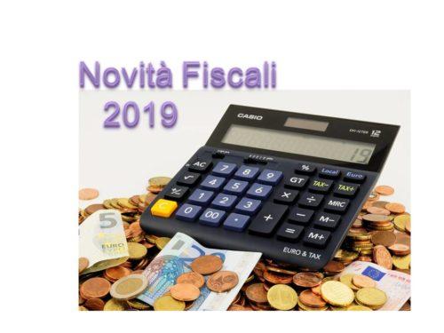 NOVITA' FISCALI 2019  (2°parte)