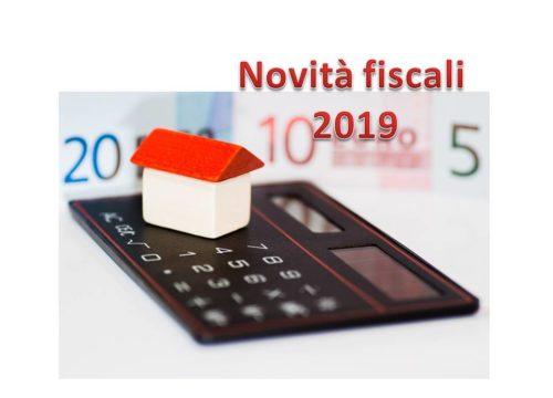NOVITA' FISCALI  2019 (3° parte)
