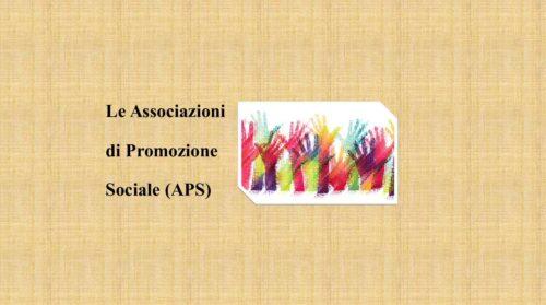 Le Associazioni di Promozione Sociale (APS)